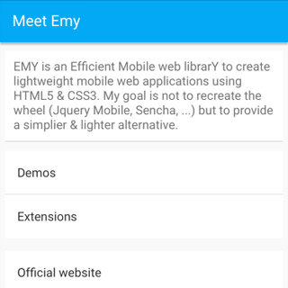 Emy Google Material theme